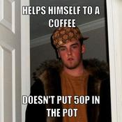 Helps himself to a coffee doesn t put 50p in the pot c10a1c