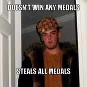 Doesn t win any medals steals all medals 856548