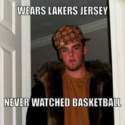 Wears lakers jersey never watched basketball